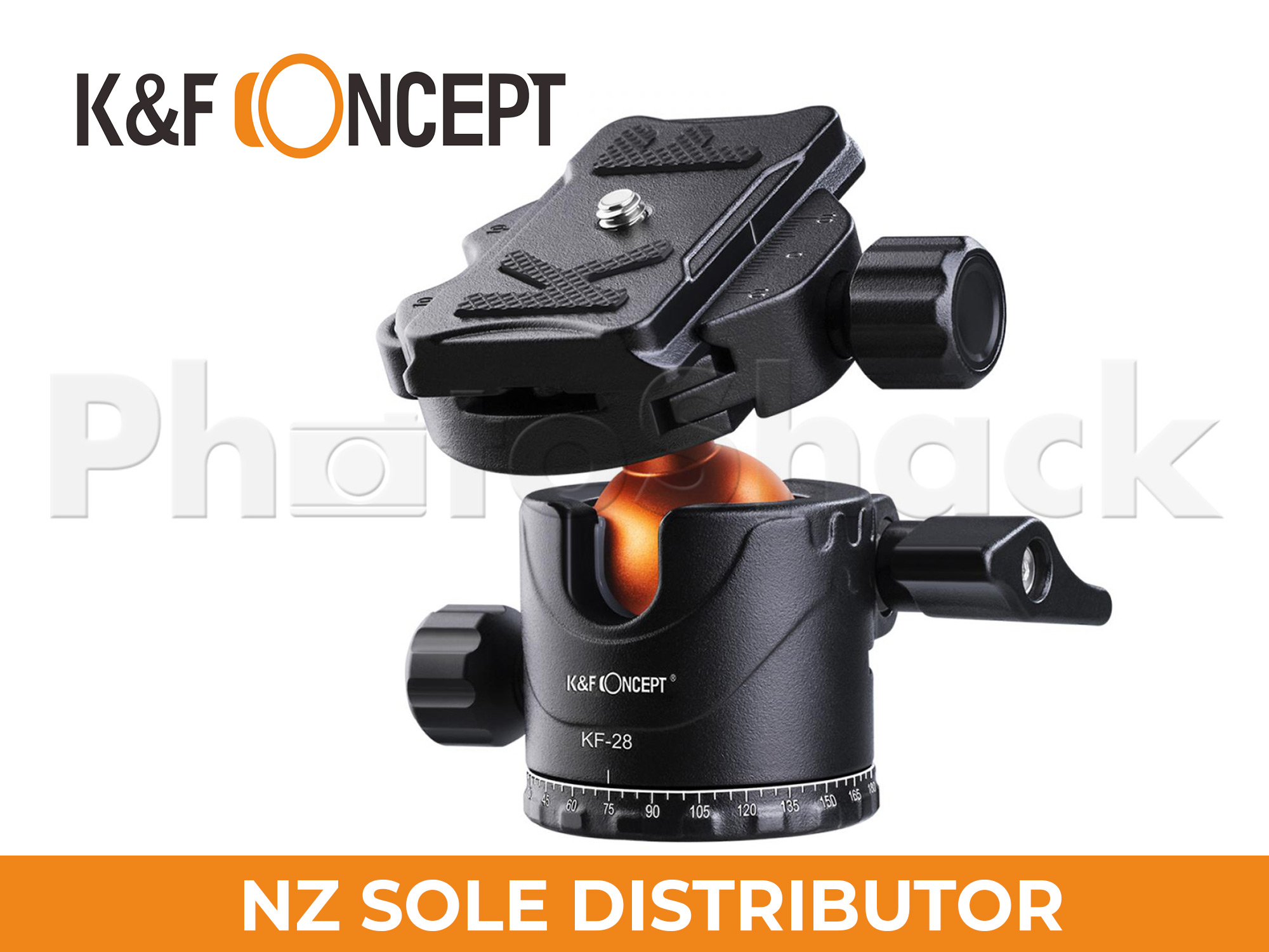 K&F 10kg Load Tripod Ball Head 360 degree Rotation with Bubble Level