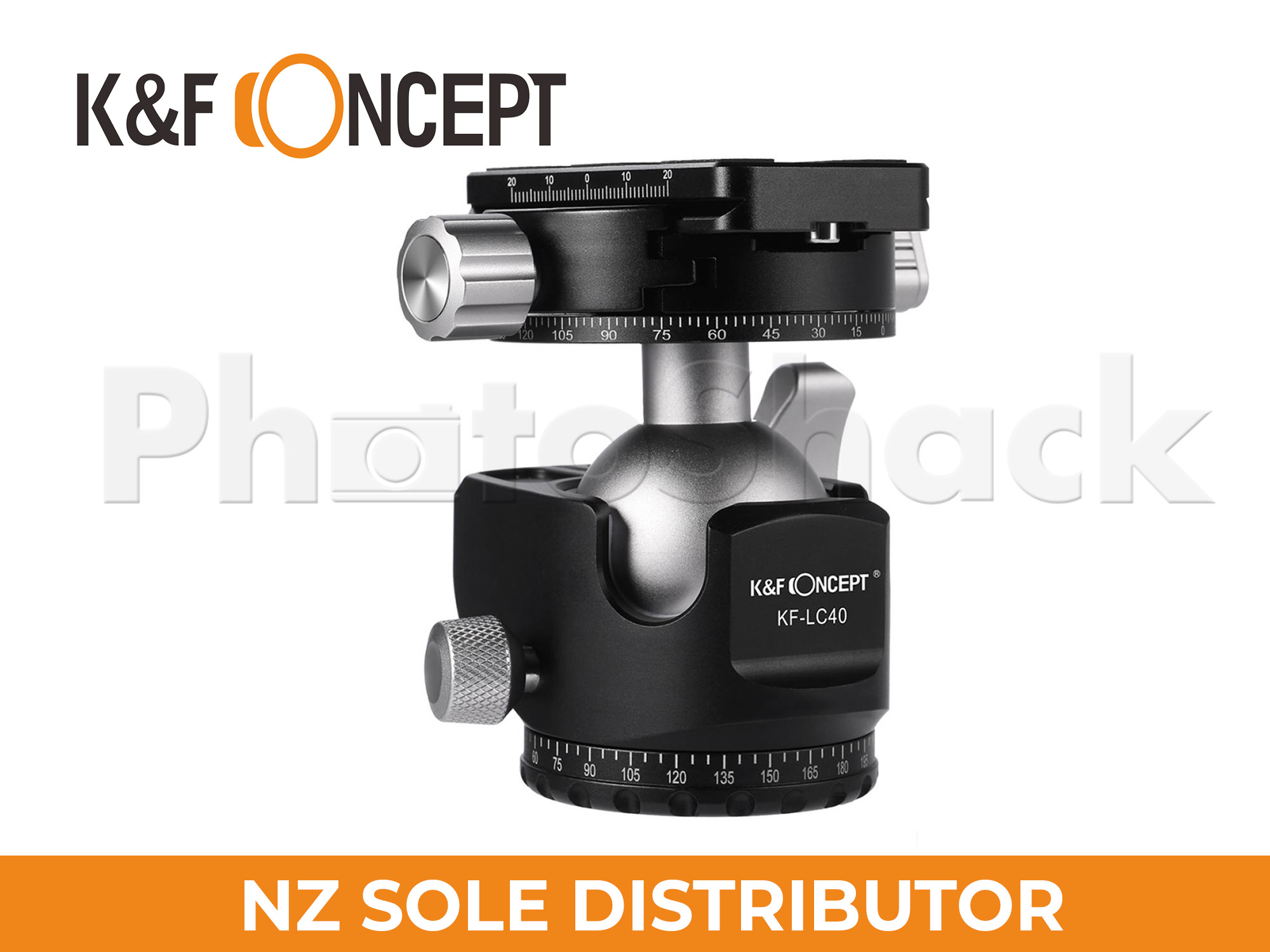 K&F Concept 40mm ball head for Tripod & Monopod. 15kg Load