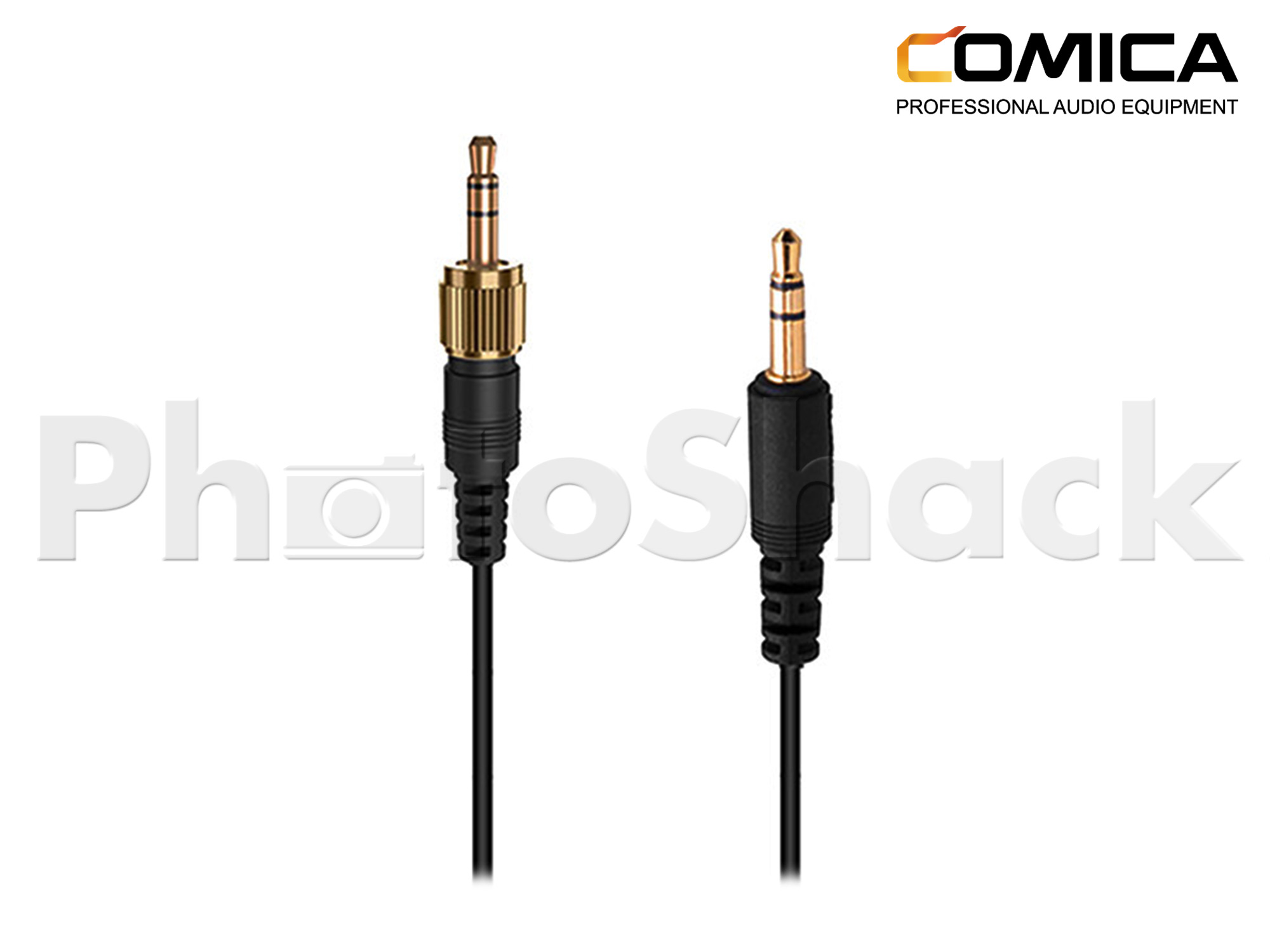 Comica 3.5mm TRS - TRS Camera Audio Cable with Locking Plate