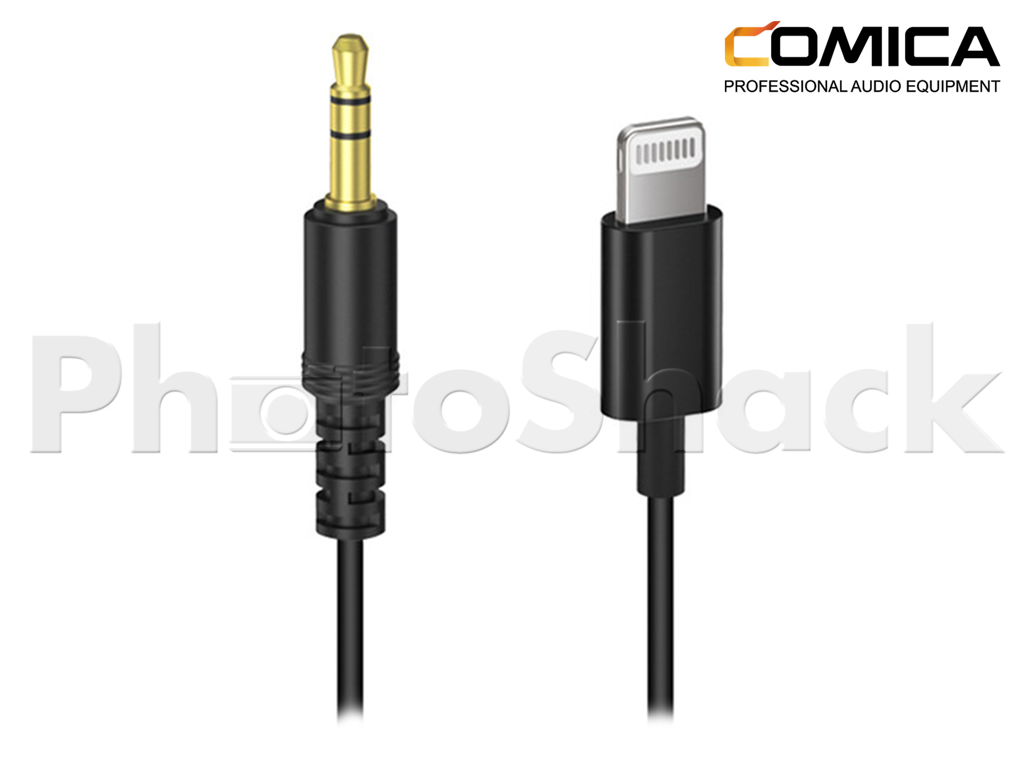 Comica Audio 3.5mm TRS to Lightning Connector for iPhone & Apple Devices