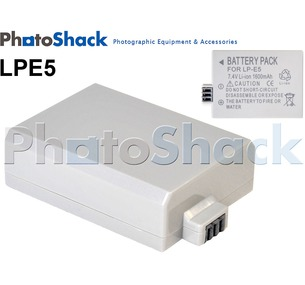 LPE5 Rechargeable Battery for Canon Cameras