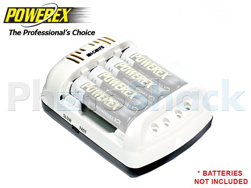 Powerex Charger 1-4 AA/AAA + 12V adaptor (External)