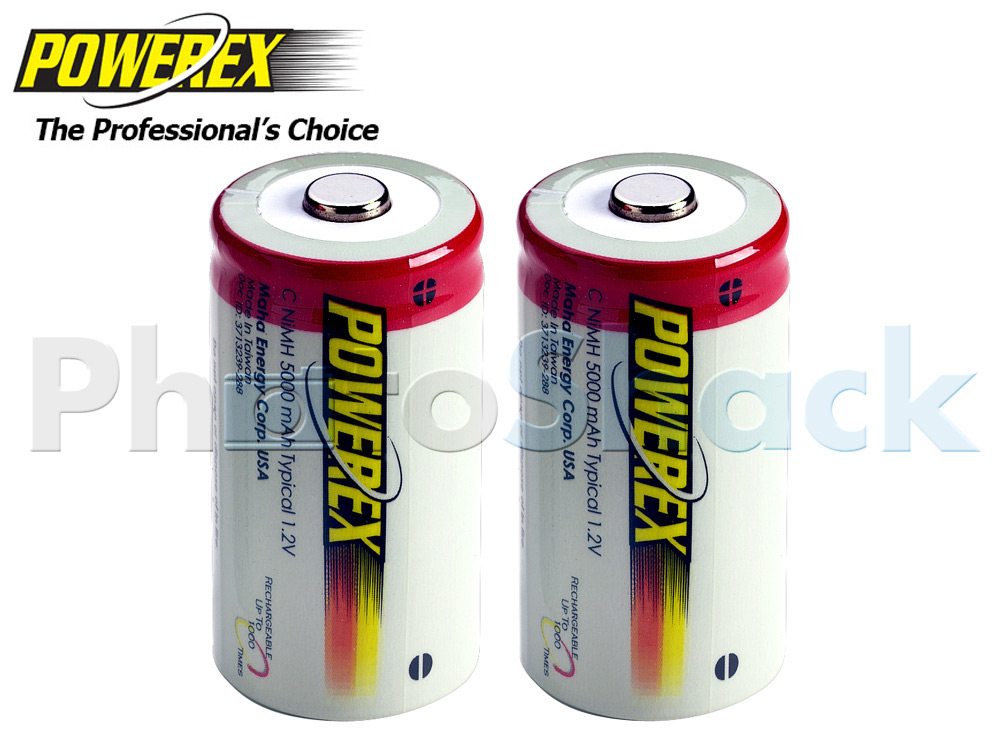 Maha POWEREX C Batteries - 5000mAh 2pack