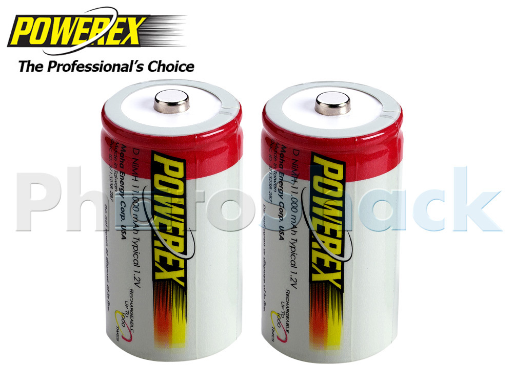 Maha POWEREX D Batteries - 11000mAh 2pack