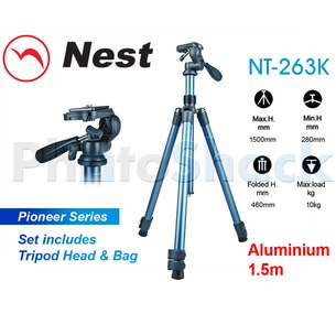 Nest 1.5m Aluminium Tripod 3 section