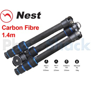 Nest 1.4m Carbon Fibre Tripod 4 section