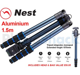 Nest 1.5m Aluminium Tripod 5 section