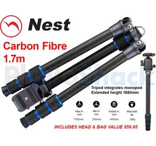 Nest Traveller - 4 section 1.7m Carbon Fibre