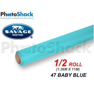 SAVAGE Paper Background Half Roll - 47 Baby Blue