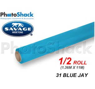 SAVAGE Paper Backdrop Half Roll - 31 Blue Jay