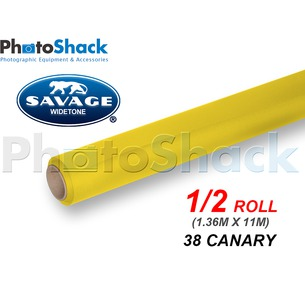 SAVAGE Paper Backdrop Half Roll - 38 Canary