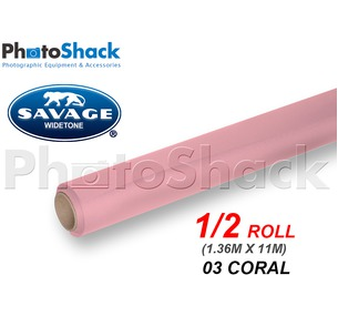 SAVAGE Paper Backdrop Half Roll - 03 Coral