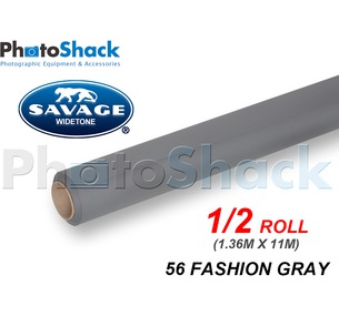 SAVAGE Paper Background Half Roll - 56 Fashion Gray