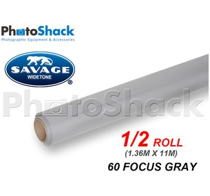SAVAGE Paper Backdrop Half Roll - 60 Focus Gray
