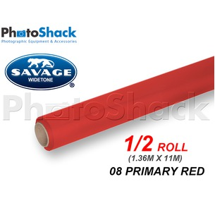 SAVAGE Paper Backdrop Half Roll - 08 Primary Red
