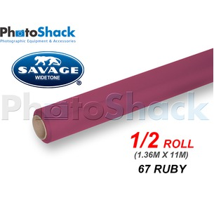 SAVAGE Paper Backdrop Half Roll - 67 Ruby