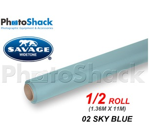 SAVAGE Paper Backdrop Half Roll - 02 Sky Blue