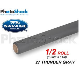 SAVAGE Paper Backdrop Half Roll - 27 Thunder Gray