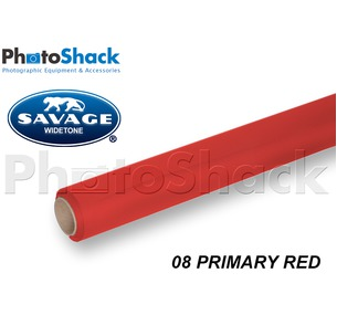 SAVAGE Paper Backdrop Roll - 08 Primary Red