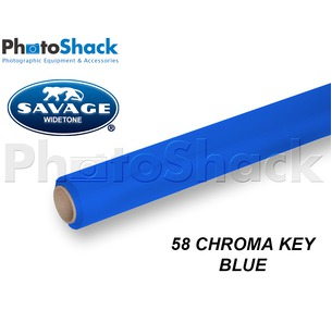 SAVAGE Paper Backdrop Roll - 58 Chroma Key Blue