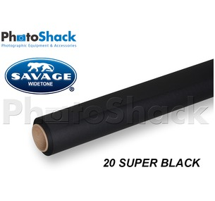 SAVAGE Paper Background Roll - 20 Super Black