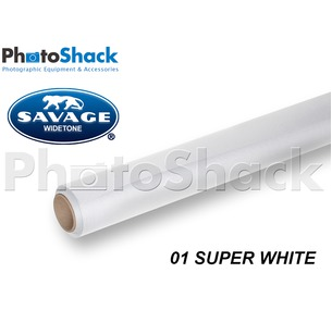 SAVAGE Paper Background Roll - 01 Super White