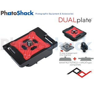 Peak Design DUALplate 2-way ARCA + 2-way Manfrotto RC2 compatible PROplate
