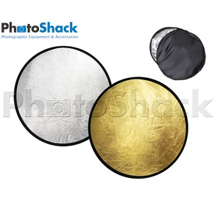 2 in 1 Reflector Light Disc (Silver & Gold) 80cm