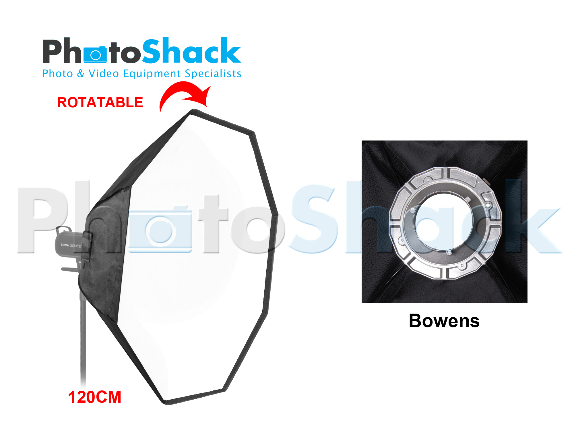 SOFTBOX for STUDIO LIGHTS (Octagonal 120 cm) - Bowens Adapter
