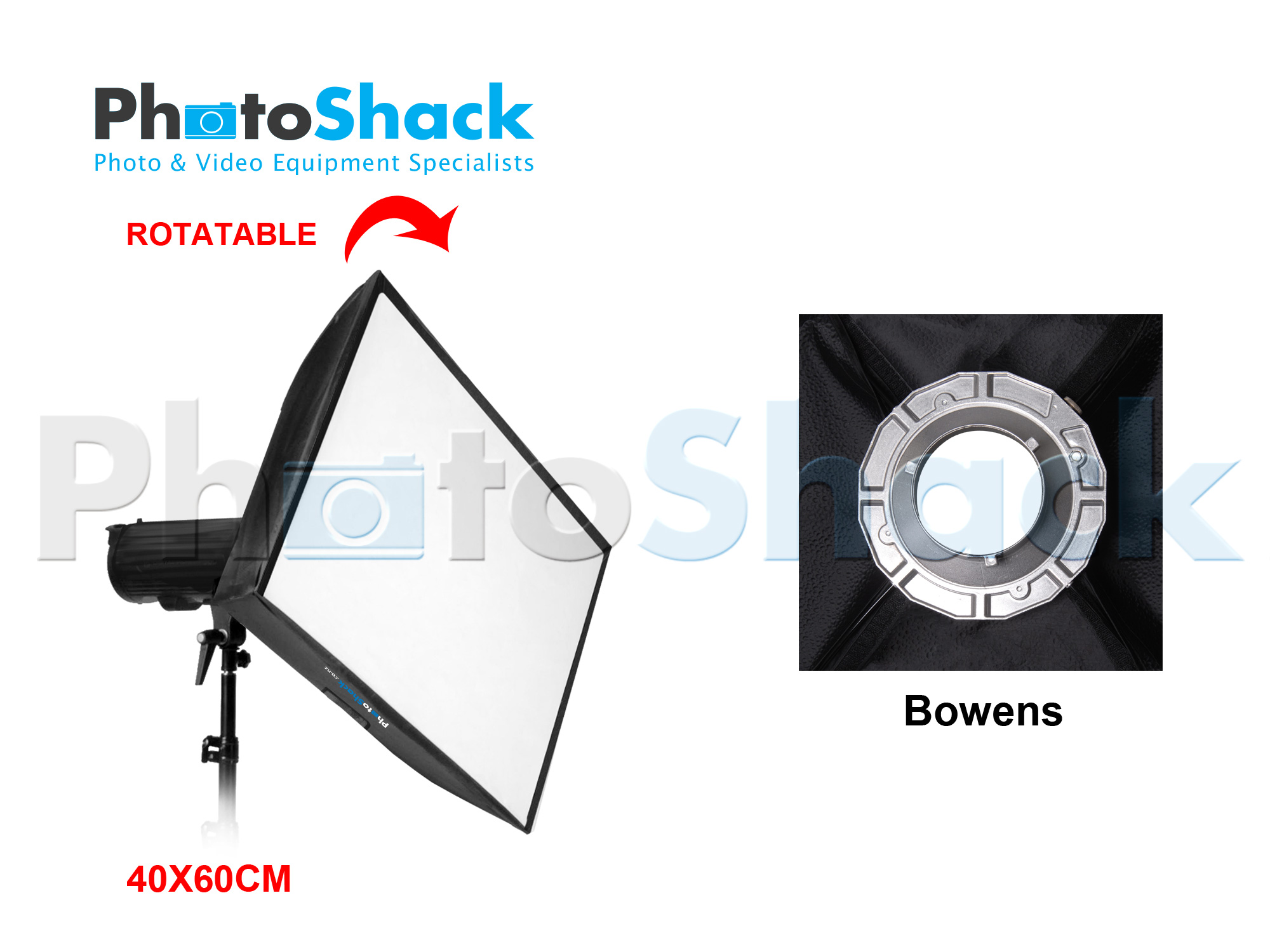 RECESSED SOFTBOX for STUDIO LIGHT (40 x 60cm) - Bowens