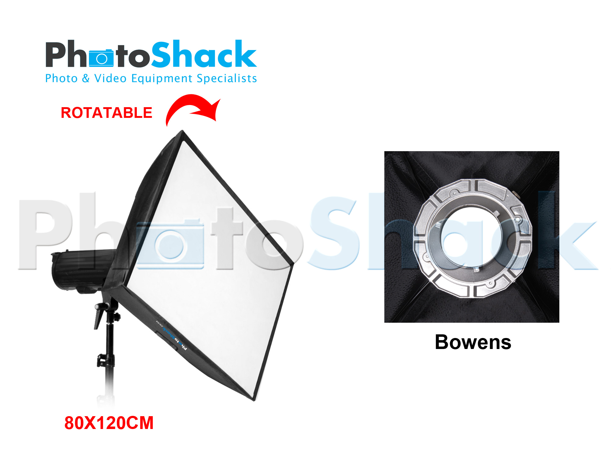 SOFTBOX for STUDIO LIGHT (80 x 120cm) - Bowens