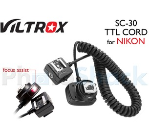 i-TTL Sync Cord for Nikon SC-30 w/ Focus Assist