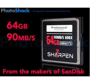 Memory Card - 64Gb 600X Professional CF Card