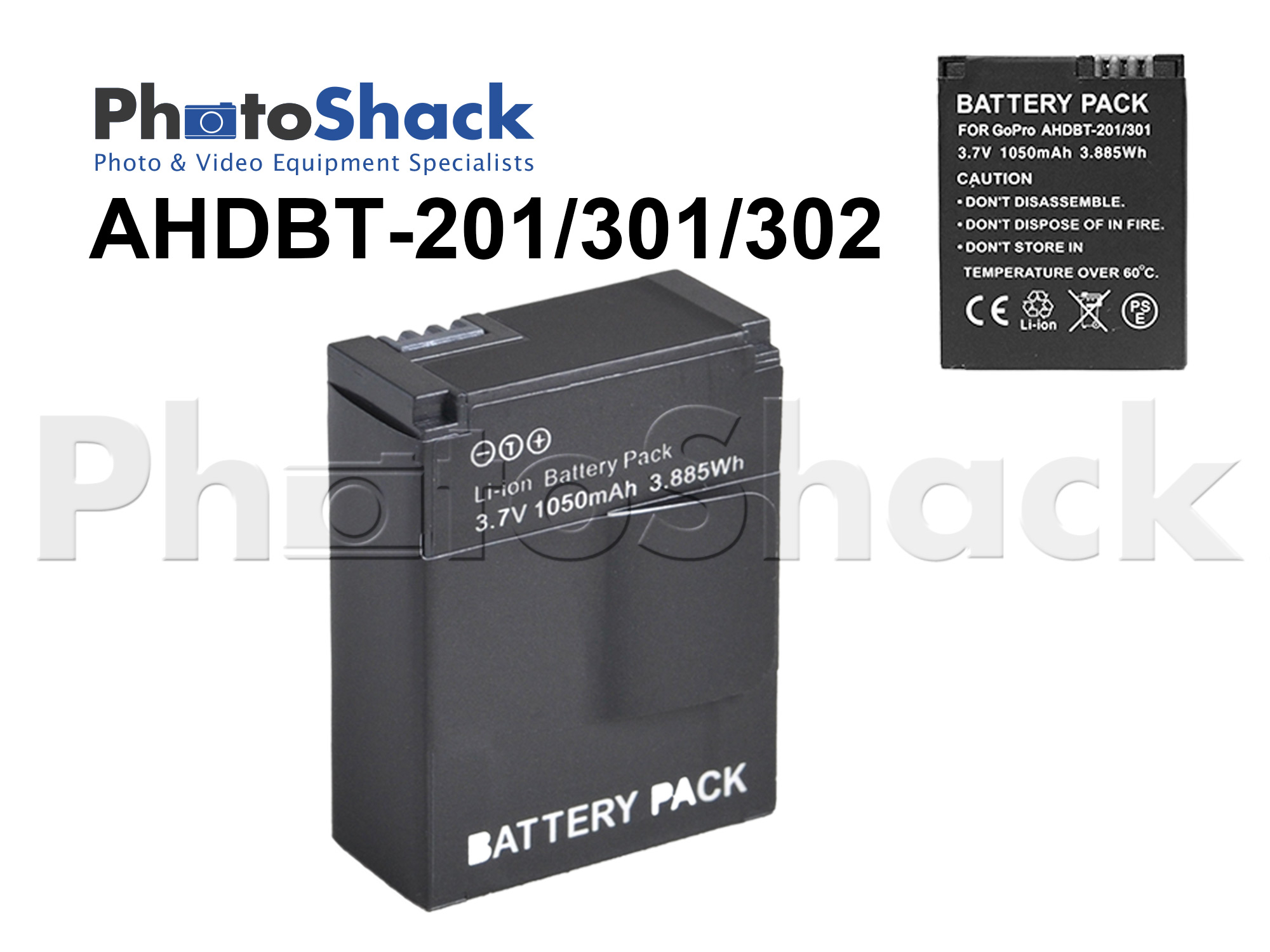 AHDBT-201/301/302 Battery (1050mAh) for GoPro Hero3 / Hero3+