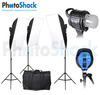 HL1000 Video Light with Softbox (x3) plus Carry bag