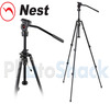 Nest Fluid Panning Head 28mm Tripod Kit with NT-720H and Geared Column