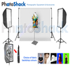 Complete Cool Light Package (3000W equiv) with Softbox Set + 3m backdrop