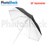 3 Fold Umbrella Black/ White 36""